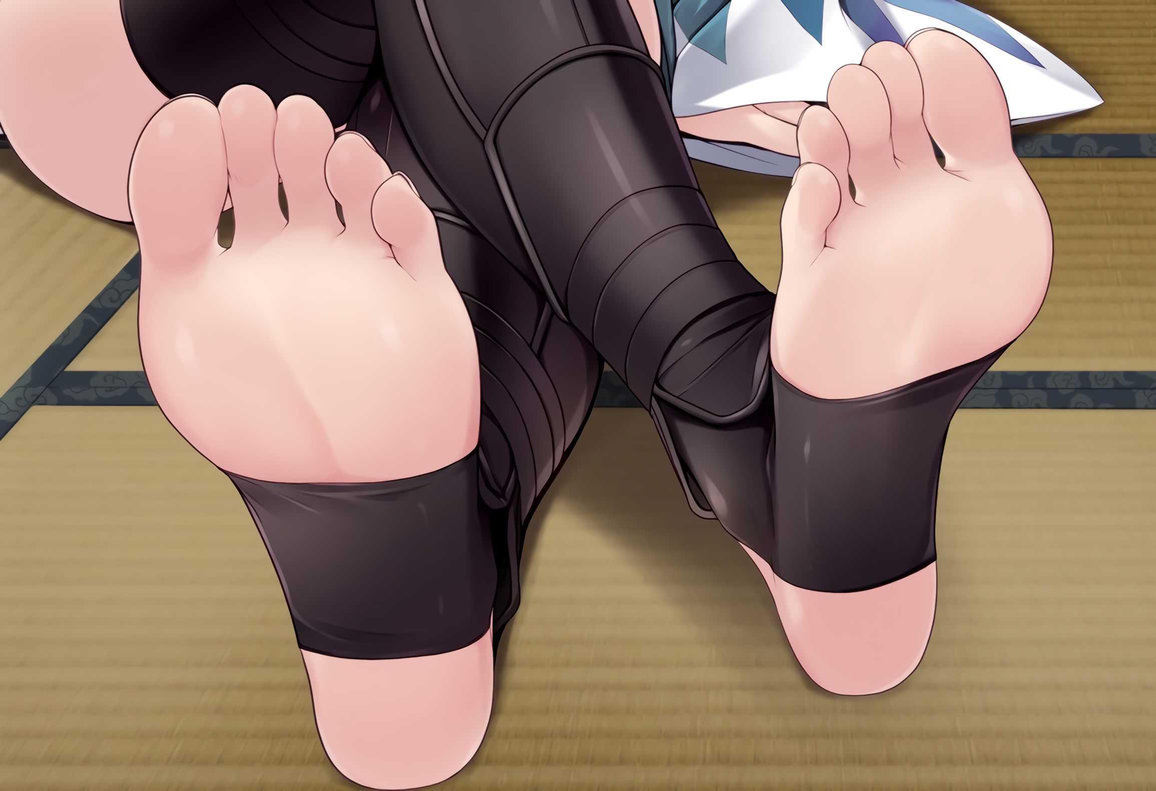 足の指フェチにはたまらん二次娘の裸足画像くれ