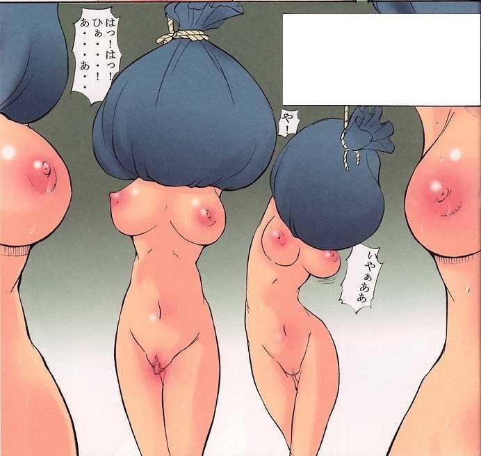 【エロ画像】茶巾縛りされちゃってるお下品娘