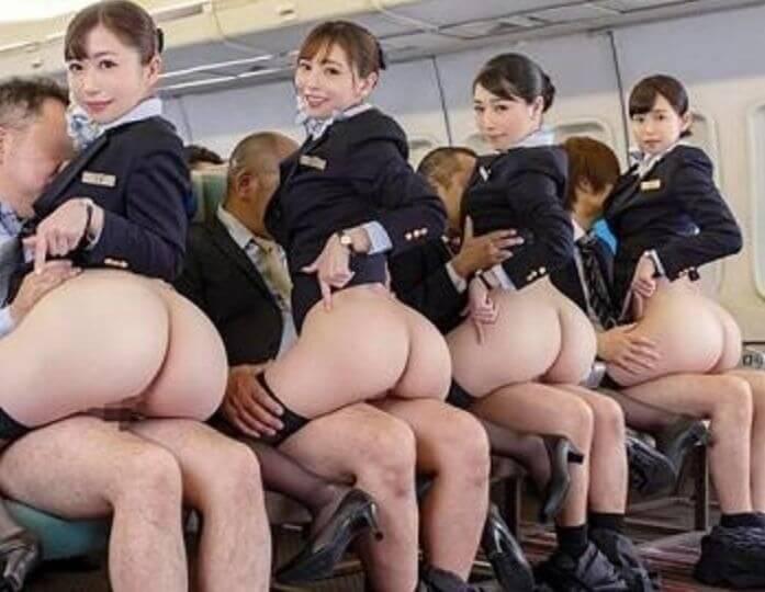 デカ尻でセックスサービスまであっちゃう、ファーストクラス乗ってみたい?